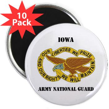 "IowaARNG - M01 - 01 - DUI - IOWA Army National Guard with Text - 2.25"" Magnet (10 pack)"
