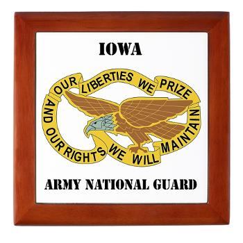 IowaARNG - M01 - 03 - DUI - IOWA Army National Guard with Text - Keepsake Box