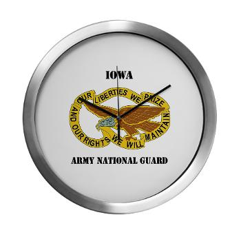 IowaARNG - M01 - 03 - DUI - IOWA Army National Guard with Text - Modern Wall Clock