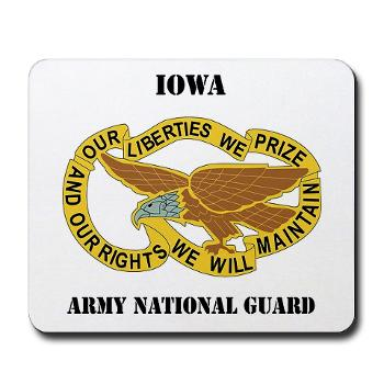 IowaARNG - M01 - 03 - DUI - IOWA Army National Guard with Text - Mousepad