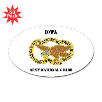 IowaARNG - M01 -01 - DUI - IOWA Army National Guard with Text - Sticker (Oval 50 pk)