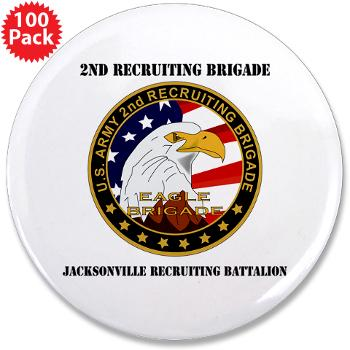"JRB - M01 - 01 - DUI - Jacksonville Recruiting Battalion with Text - 3.5"" Button (100 pack)"