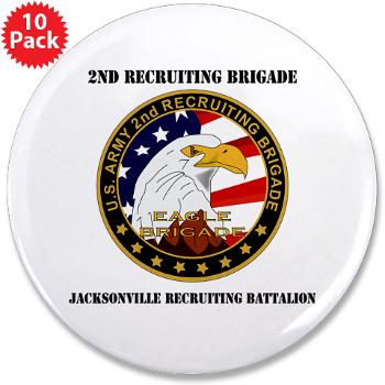 "JRB - M01 - 01 - DUI - Jacksonville Recruiting Battalion with Text - 3.5"" Button (10 pack)"