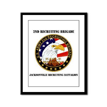 JRB - M01 - 02 - DUI - Jacksonville Recruiting Battalion with Text - Framed Panel Print