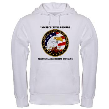 JRB - A01 - 03 - DUI - Jacksonville Recruiting Battalion with Text - Hooded Sweatshirt