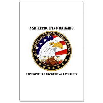 JRB - M01 - 02 - DUI - Jacksonville Recruiting Battalion with Text - Mini Poster Print