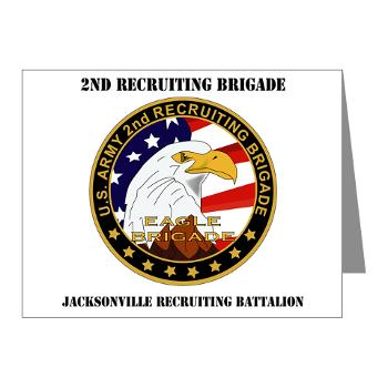 JRB - M01 - 02 - DUI - Jacksonville Recruiting Battalion with Text - Note Cards (Pk of 20)