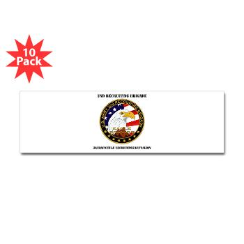 JRB - M01 - 01 - DUI - Jacksonville Recruiting Battalion with Text - Sticker (Bumper 10 pk)