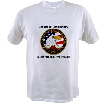 JRB - A01 - 04 - DUI - Jacksonville Recruiting Battalion with Text - Value T-shirt