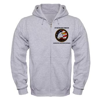 JRB - A01 - 03 - DUI - Jacksonville Recruiting Battalion with Text - Zip Hoodie