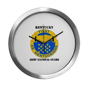 KARNG - M01 - 03 - DUI - Kentucky Army National Guard with text - Modern Wall Clock