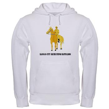 KCRB - A01 - 03 - DUI - Kansas City Recruiting Bn with Text Hooded Sweatshirt