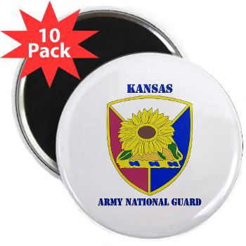 "KSARNG - M01 - 01 - DUI - Kansas Army National Guard with Text - 2.25"" Magnet (10 pack)"