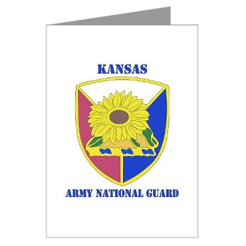 KSARNG - M01 - 02 - DUI - Kansas Army National Guard with Text - Greeting Cards (Pk of 20)