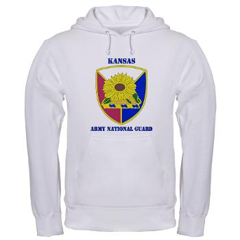 KSARNG - A01 - 03 - DUI - Kansas Army National Guard with Text - Hooded Sweatshirt