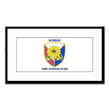 KSARNG - M01 - 02 - DUI - Kansas Army National Guard with Text - Small Framed Print