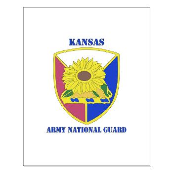 KSARNG - M01 - 02 - DUI - Kansas Army National Guard with Text - Small Poster