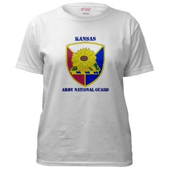 KSARNG - A01 - 04 - DUI - Kansas Army National Guard with Text - Women's T-Shirt