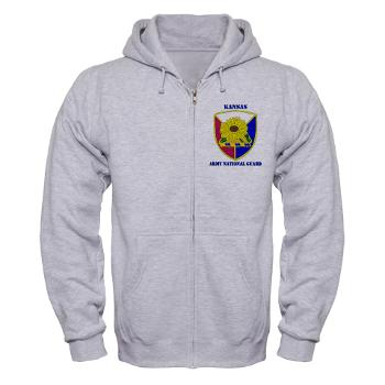 KSARNG - A01 - 03 - DUI - Kansas Army National Guard with Text - Zip Hoodie