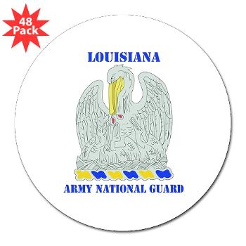 "LAARNG - M01 - 01 - DUI - Lousiana Army National Guard with Text - 3"" Lapel Sticker (48Pk)"