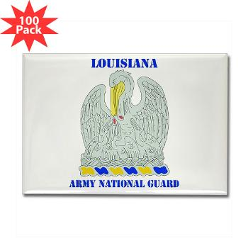 LAARNG - M01 - 01 - DUI - Lousiana Army National Guard with Text - Rectangle Magnet (100 pk)