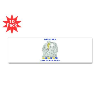 LAARNG - M01 - 01 - DUI - Lousiana Army National Guard with Text - Sticker (Bumper 10 pk)