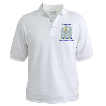 LAARNG - A01 - 04 - DUI - Lousiana Army National Guard with Text - Golf Shirt