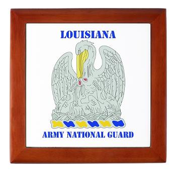 LAARNG - M01 - 03 - DUI - Lousiana Army National Guard with Text - Keepsake Box