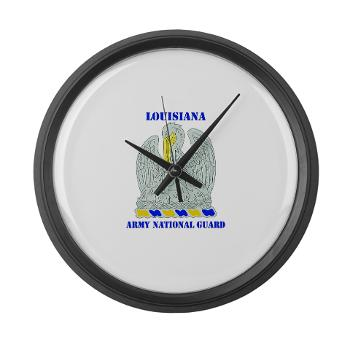 LAARNG - M01 - 03 - DUI - Lousiana Army National Guard with Text - Large Wall Clock