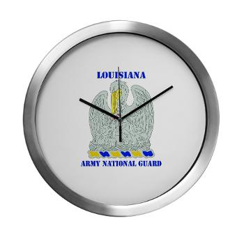 LAARNG - M01 - 03 - DUI - Lousiana Army National Guard with Text - Modern Wall Clock