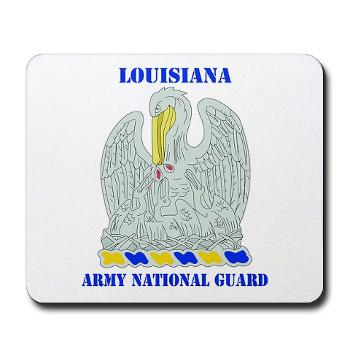 LAARNG - M01 - 03 - DUI - Lousiana Army National Guard with Text - Mousepad
