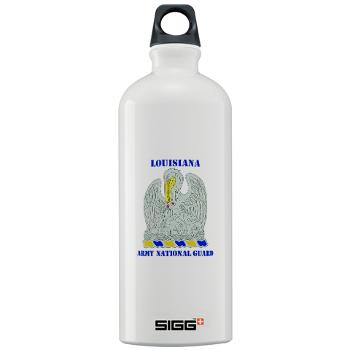 LAARNG - M01 - 03 - DUI - Lousiana Army National Guard with Text - Sigg Water Bottle 1.0L