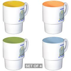 LAARNG - M01 - 03 - DUI - Lousiana Army National Guard with Text - Stackable Mug Set (4 mugs)