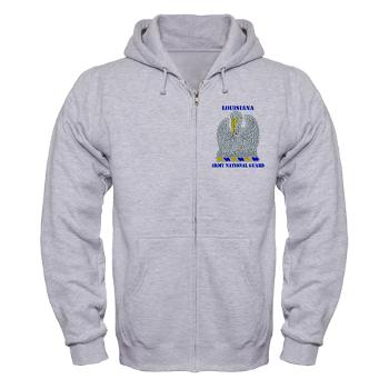 LAARNG - A01 - 03 - DUI - Lousiana Army National Guard with Text - Zip Hoodie