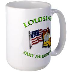 LAARNG - M01 - 03 - DUI - Lousiana Army National Guard with Flag Large Mug