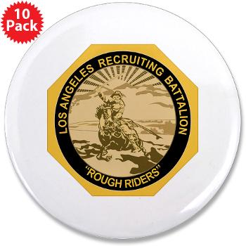 "LARB - M01 - 01 - DUI - Los Angeles Recruiting Bn - 3.5"" Button (10 pack)"
