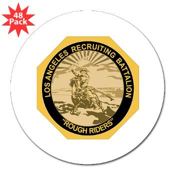 "LARB - M01 - 01 - DUI - Los Angeles Recruiting Bn - 3"" Lapel Sticker (48 pk)"