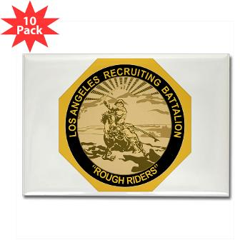 LARB - M01 - 01 - DUI - Los Angeles Recruiting Bn - Rectangle Magnet (10 pack)