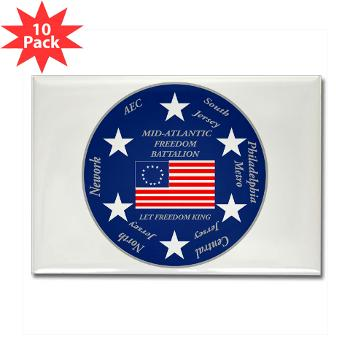 MARB - M01 - 01 - DUI - Mid-Atlantic Recruiting Battalion Rectangle Magnet (10 pack)