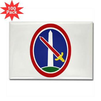 MDW - M01 - 01 - Army Military District of Washington (MDW) - Rectangle Magnet (100 pack)