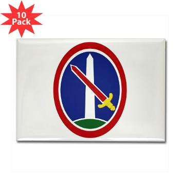MDW - M01 - 01 - Army Military District of Washington (MDW) - Rectangle Magnet (10 pack)
