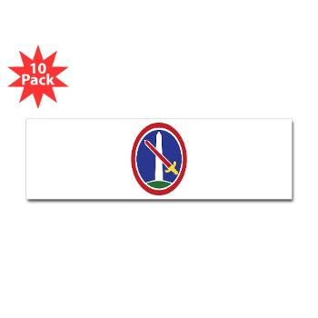 MDW - M01 - 01 - Army Military District of Washington (MDW) - Sticker (Bumper 10 pk)