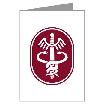 MEDCOM - M01 - 02 - SSI - U.S. Army Medical Command (MEDCOM) - Greeting Cards (Pk of 10)