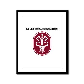 MEDCOM - M01 - 02 - SSI - U.S. Army Medical Command (MEDCOM) with Text - Framed Panel Print