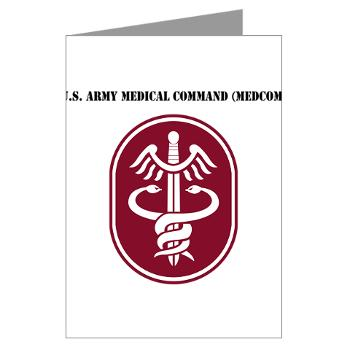 MEDCOM - M01 - 02 - SSI - U.S. Army Medical Command (MEDCOM) with Text - Greeting Cards (Pk of 20)