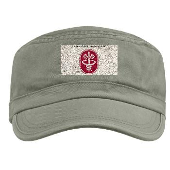 MEDCOM - A01 - 01 - SSI - U.S. Army Medical Command (MEDCOM) with Text - Military Cap