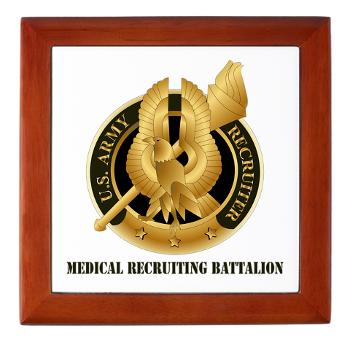 MEDRB - M01 - 03 - DUI - Medical Recruiting Battalion with Text - Keepsake Box
