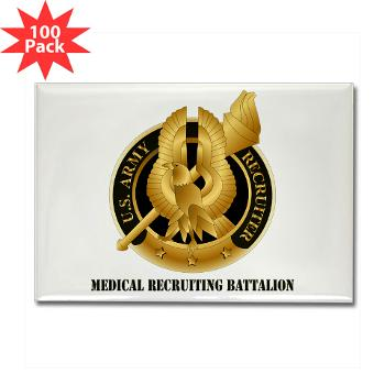 MEDRB - M01 - 01 - DUI - Medical Recruiting Battalion with Text - Rectangle Magnet (100 pack)