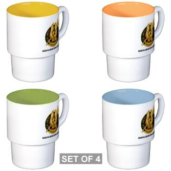 MEDRB - M01 - 03 - DUI - Medical Recruiting Battalion with Text - Stackable Mug Set (4 mugs)