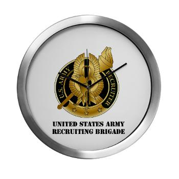 MEDRB - M01 - 03 - DUI - Medical Recruiting Battalion with Text - Modern Wall Clock